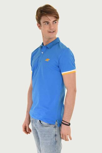 UCLA - SANTEE Mavi Polo Yaka Erkek T-shirt (1)
