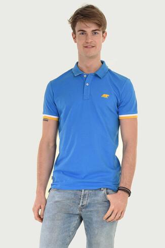 SANTEE Mavi Polo Yaka Erkek T-shirt - Thumbnail (3)