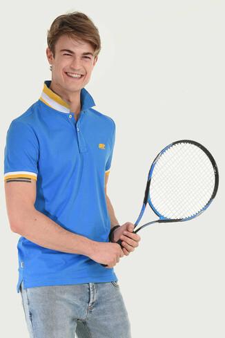 UCLA - SANTEE Mavi Polo Yaka Erkek T-shirt