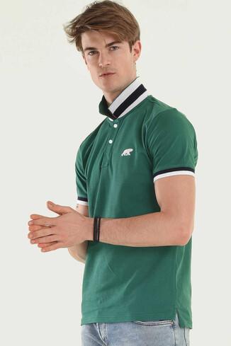 UCLA - SANTEE Yeşil Polo Yaka Erkek T-shirt