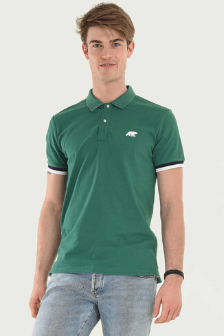 UCLA - SANTEE Yeşil Polo Yaka Erkek T-shirt (1)