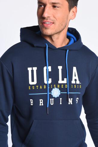 UCLA - SCOTT Koyu Lacivert Kapüşonlu Baskılı Erkek Sweatshirt (1)