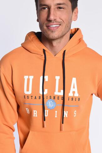 UCLA - SCOTT Turuncu Kapüşonlu Baskılı Erkek Sweatshirt (1)