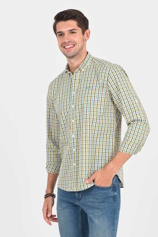 UCLA - SOLVANG Mavi Çizgili Erkek Gömlek