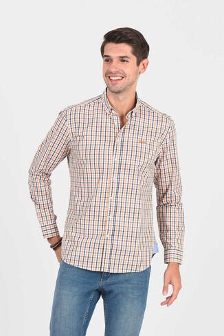 UCLA - SOLVANG Turuncu Çizgili Erkek Gömlek (1)