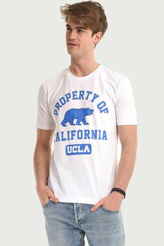 UCLA - STANTON Beyaz Bisiklet Yaka Erkek T-shirt (1)