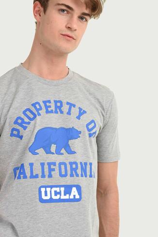 UCLA - STANTON Gri Bisiklet Yaka Erkek T-shirt