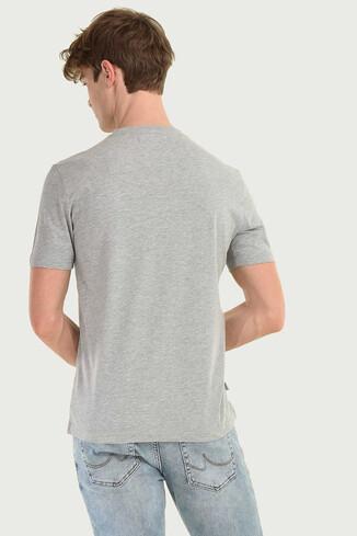 STANTON Gri Bisiklet Yaka Erkek T-shirt - Thumbnail (3)