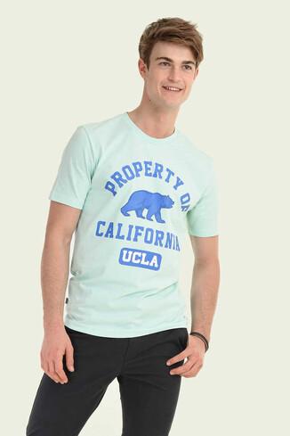 UCLA - STANTON Mint Bisiklet Yaka Erkek T-shirt