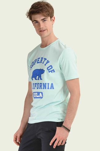 UCLA - STANTON Mint Bisiklet Yaka Erkek T-shirt (1)