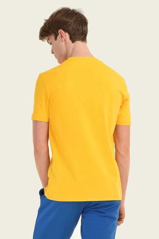 STANTON Sarı Bisiklet Yaka Erkek T-shirt - Thumbnail (3)