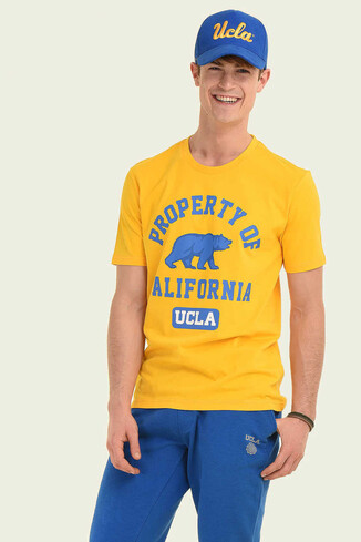 UCLA - STANTON Sarı Bisiklet Yaka Erkek T-shirt