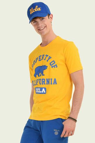 UCLA - STANTON Sarı Bisiklet Yaka Erkek T-shirt (1)
