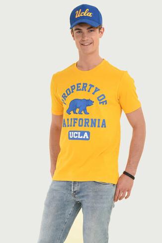 STANTON Sarı Bisiklet Yaka Erkek T-shirt - Thumbnail (4)