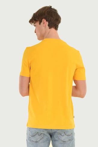 STANTON Sarı Bisiklet Yaka Erkek T-shirt - Thumbnail (5)