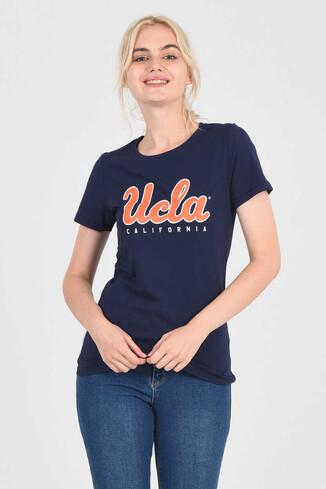 TRACY Lacivert Bisiklet Yaka Kadın T-shirt - Thumbnail (2)