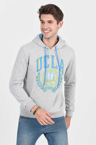 UCLA - TULARE Gri Kapüşonlu Erkek Sweatshirt