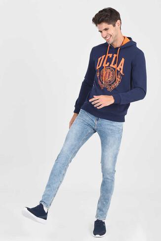 UCLA - TULARE Lacivert Kapüşonlu Erkek Sweatshirt