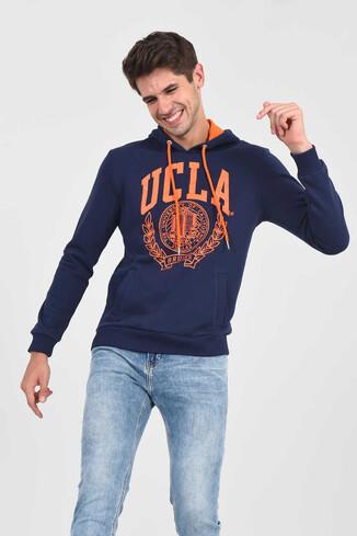 UCLA - TULARE Lacivert Kapüşonlu Erkek Sweatshirt (1)