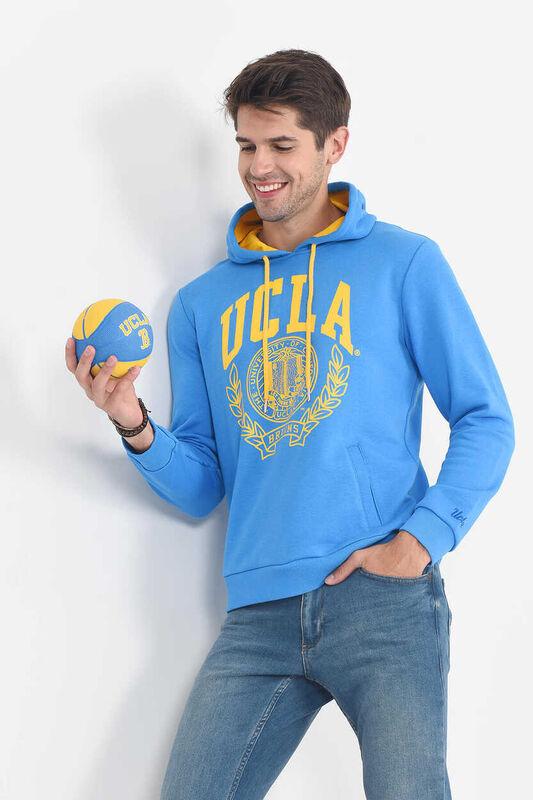 TULARE Mavi Kapüşonlu Erkek Sweatshirt - Thumbnail