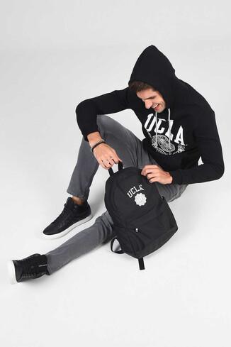 UCLA - TULARE Siyah Kapüşonlu Erkek Sweatshirt (1)