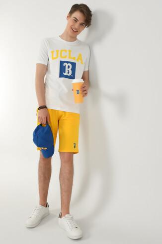 UCLA - TUSTIN Beyaz Bisiklet Yaka Erkek T-shirt