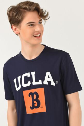 UCLA - TUSTIN Lacivert Bisiklet Yaka Erkek T-shirt (1)