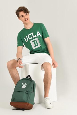 TUSTIN Yeşil Bisiklet Yaka Erkek T-shirt - Thumbnail (3)