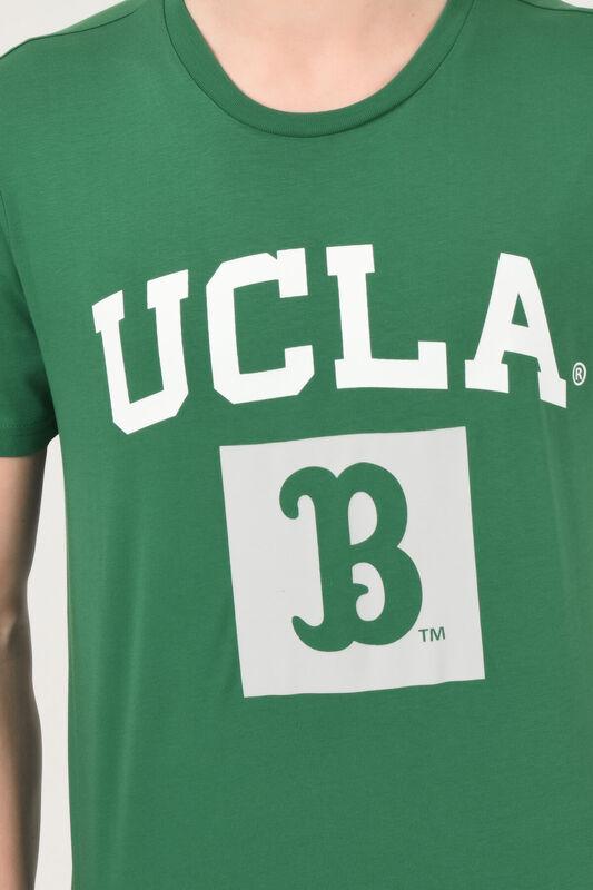 TUSTIN Yeşil Bisiklet Yaka Erkek T-shirt - Thumbnail