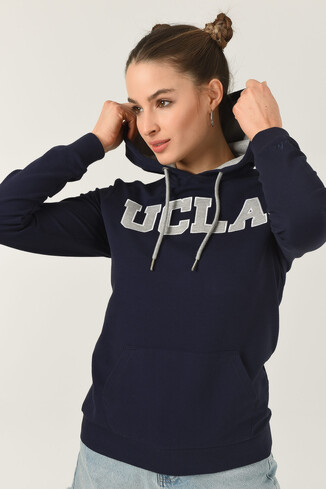 UCLA - VALENCIA Lacivert Kapüşonlu Kadın Sweatshirt