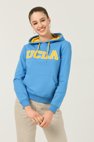 UCLA - VALENCIA Mavi Kapüşonlu Kadın Sweatshirt