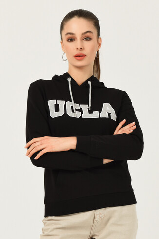 UCLA - VALENCIA Siyah Kapüşonlu Kadın Sweatshirt