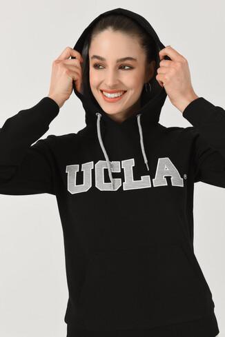 UCLA - VALENCIA Siyah Kapüşonlu Kadın Sweatshirt (1)