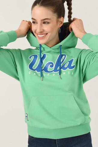 UCLA - VISALIA Mint Kapüşonlu Kadın Sweatshirt (1)