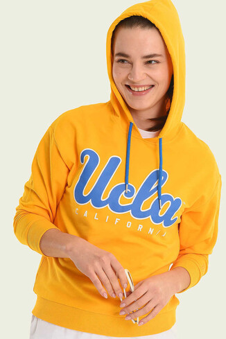 UCLA - VISALIA Sarı Kapüşonlu Kadın Sweatshirt