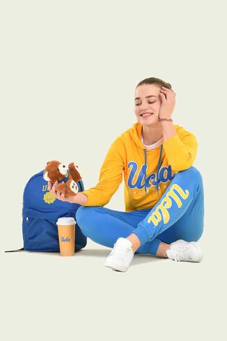 VISALIA Sarı Kapüşonlu Kadın Sweatshirt - Thumbnail (4)