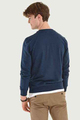 UCLA - WEYBURN Lacivert Bisiklet Yaka Erkek Sweatshirt (1)