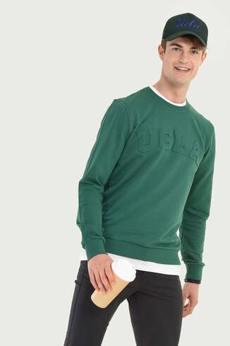 WEYBURN Yeşil Bisiklet Yaka Erkek Sweatshirt - Thumbnail (5)